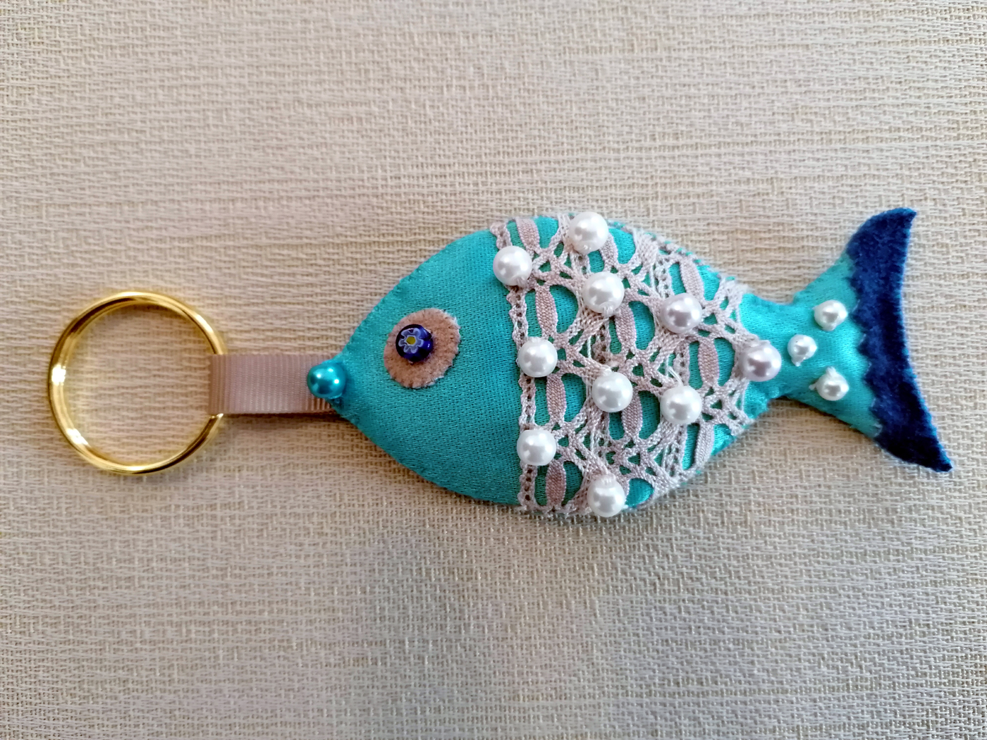 Portachiavi Pesce Azzurro